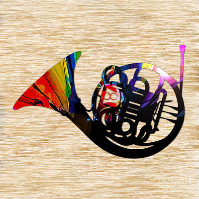 Orchestra Mixed Media - French Horn by Marvin Blaine