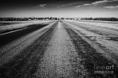 highway 34 near bengough Saskatchewan Canada Art Print by Joe Fox
