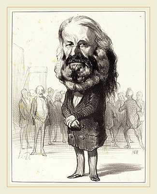 Ant Drawing - Honoré Daumier French, 1808-1879 by Litz Collection