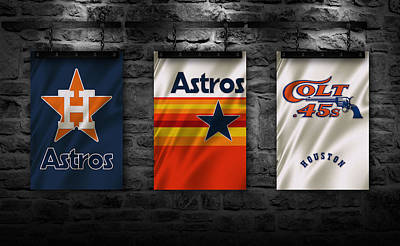 Astros Photograph - Houston Astros by Joe Hamilton