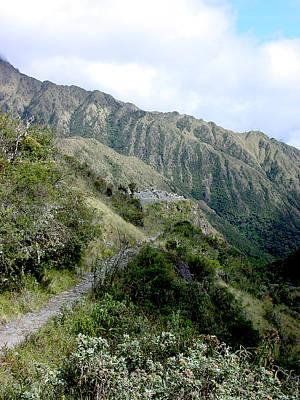 Ruins Photograph - 9 Inca Trail Sayacmarca by Roger Burkart
