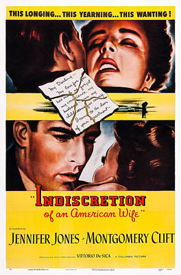 Indiscretion Of An American Wife, Aka Art Print by Everett