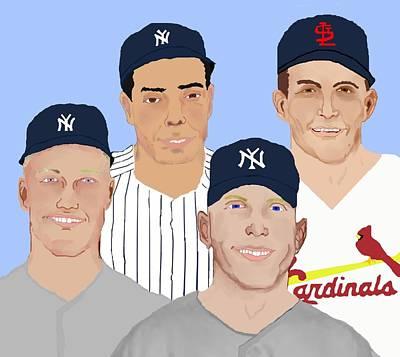 9-inning Legends Art Print by Pharris Art