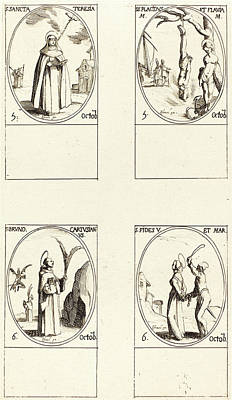 Flavia Drawing - Jacques Callot, French 1592-1635 by Litz Collection