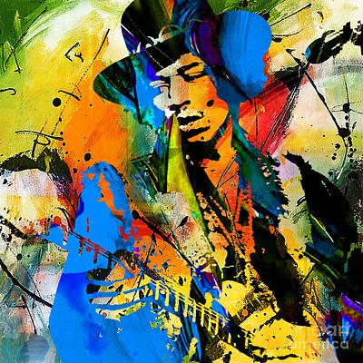 Stratocaster Mixed Media - Jimi Hendrix Painting by Marvin Blaine
