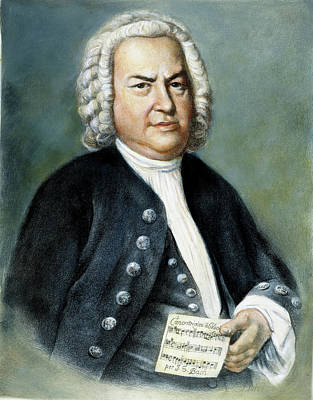 Bach Painting - Johann Sebastian Bach (1685-1750) by Granger