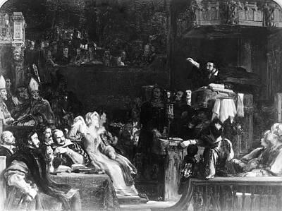 Podium Painting - John Knox (1505-1572) by Granger