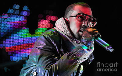 Music Mixed Media - Kanye West by Marvin Blaine