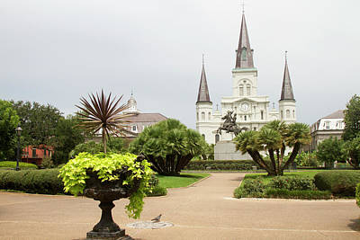 St. Louis Cathedral Photograph - La, New Orleans, French Quarter by Jamie and Judy Wild