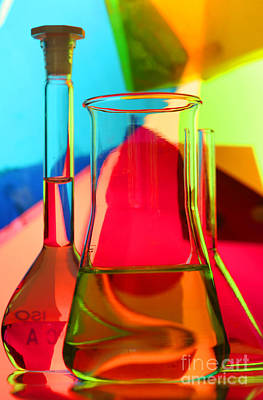 Photograph - Laboratory Glassware by Sigrid Gombert