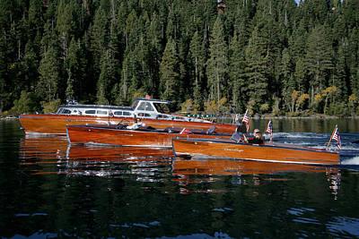 Lake Tahoe Wooden Boats Art Print by Steven Lapkin