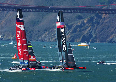 Bay Area Photograph - Last Race by David Davies
