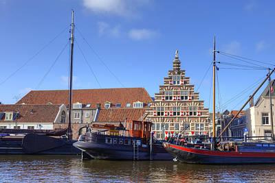 Canal Town Photograph - Leiden by Joana Kruse