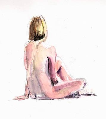 Figurative. Lady Painting - Life Drawing by Bakhtiar Umataliev