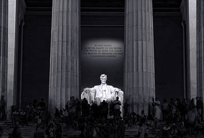 Photograph - Lincoln Memorial by Allen Beatty