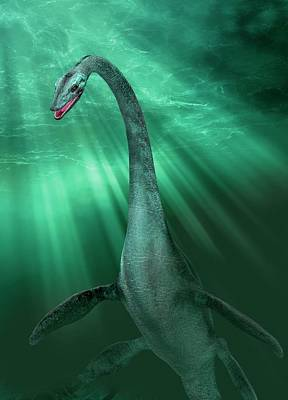 Loch Ness Photograph - Loch Ness Monster by Victor Habbick Visions