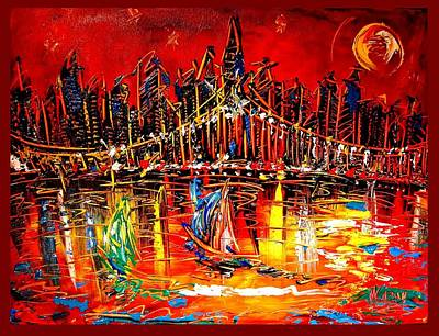 Old Man And The Sea Painting - Manhattan by Mark Kazav
