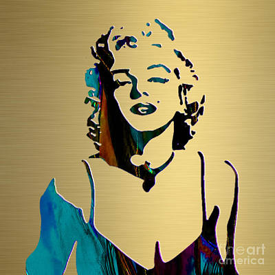 Star Mixed Media - Marilyn Monroe Gold Series by Marvin Blaine