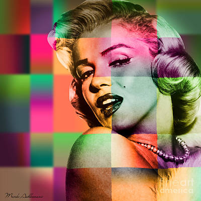 Delicate Digital Art - Marilyn Monroe by Mark Ashkenazi