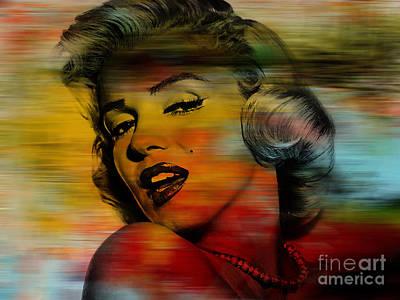 Marilyn Monroe Art Print by Marvin Blaine