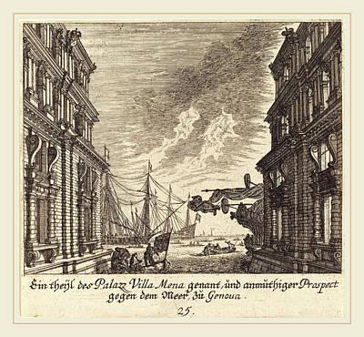 Genoa Drawing - Melchior Küsel After Johann Wilhelm Baur German by Litz Collection