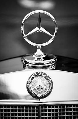 Antique Car Photograph - Mercedes-benz Hood Ornament by Jill Reger