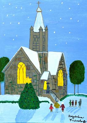 Art Print featuring the painting Merry Christmas by Magdalena Frohnsdorff