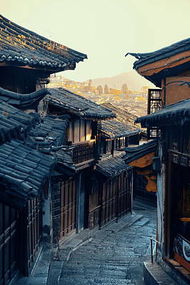 Photograph - Old Street  by Songquan Deng