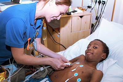 Black Children Photograph - Paediatric Cardiology Ward by Life In View