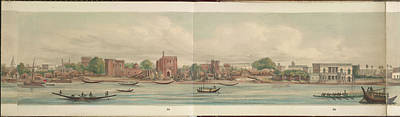 Panorama Of The City Of Dacca Print by British Library