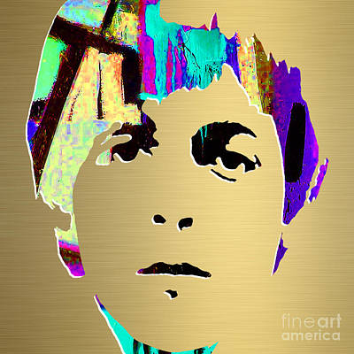 Mccartney Mixed Media - Paul Mccartney Gold Series by Marvin Blaine