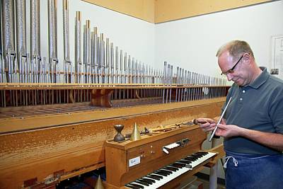 Wind Instrument Photograph - Pipe Organ Factory by Jim West