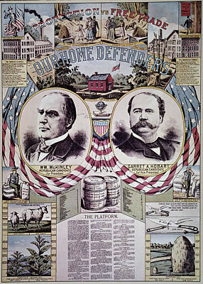 Republican Painting - Presidential Campaign 1896 by Granger