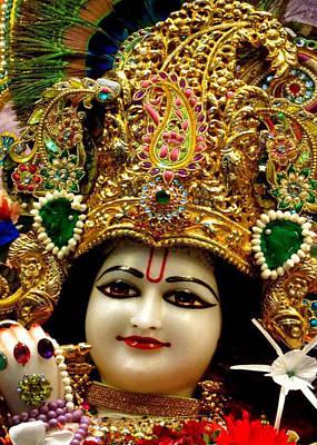 Mahabharata Painting - Radha Krishna Idol Hinduism Religion Religious Spiritual Yoga Meditation Deco Navinjoshi  Rights Man by Navin Joshi