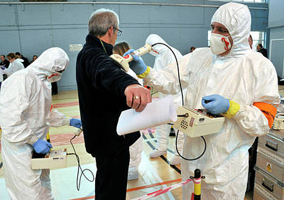 Simulated Photograph - Radiation Emergency Response Training by Public Health England