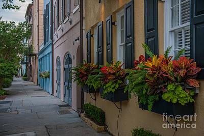 Photograph - Charleston Sc Rainbow Row by Dale Powell