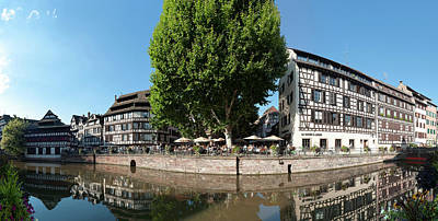 Alsace Photograph - Reflection Of Buildings On Water by Panoramic Images