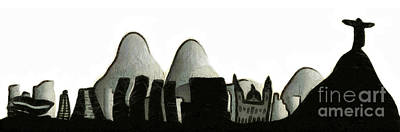 Mixed Media Royalty Free Images - Rio de Janeiro skyline Royalty-Free Image by Michal Boubin
