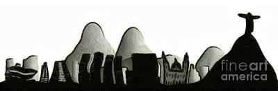 Rio De Janeiro Skyline Art Print by Michal Boubin