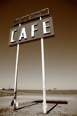 Mural Photograph - Route 66 Cafe by Frank Romeo