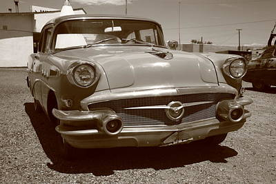 Blue Buick Photograph - Route 66 Classic Car by Frank Romeo