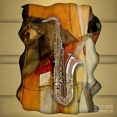 Saxophone Art Mixed Media - Saxophone Collection by Marvin Blaine