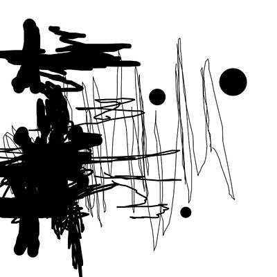 Scribbles Digital Art - Scribble by John F Metcalf