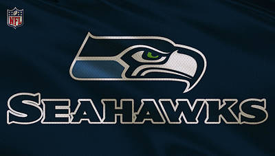 Seattle Seahawks Uniform Art Print