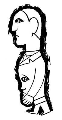 Jean Cocteau Drawing - Sigmund Freud (1856-1939) by Granger