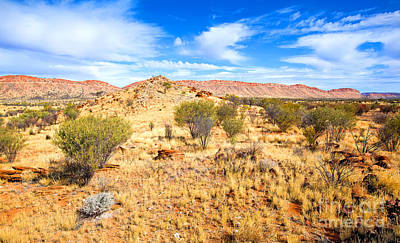 Australian Landscape Photograph - West Mcdonnell Ranges Larapinta Drive by Bill  Robinson