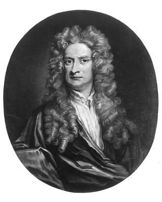 Newton Painting - Sir Isaac Newton (1643-1727) by Granger