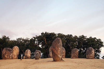 Megalith Photograph - Sunrise At Almendres Cromlech by Andre Goncalves