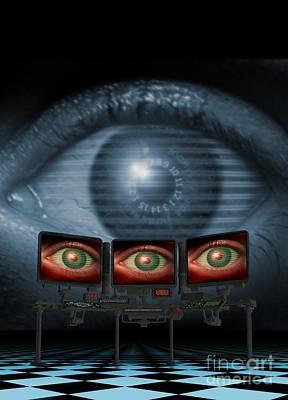 Surveillance, Conceptual Image Art Print by Victor Habbick Visions