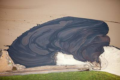Oil Slick Photograph - Tailings Pond At The Syncrude Mine by Ashley Cooper